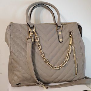 Steve Madden Quilted Chevron Large Convertible Bag